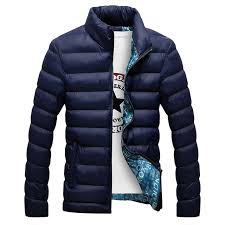 best popular winter jacket men 2018 fashion stand collar male parka jacket mens solid thick jackets