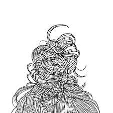 ニュアンスヘア ファッションイラスト ロング お団子ヘアentraide Hair