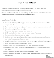 Does An Essay Have Paragraphs How To Start An Essay A Step By Step Guide By Kingessays