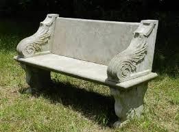 superb weathered garden bench stone