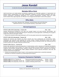 ... Office Mailroom Clerk Resume Sample a part of under ...