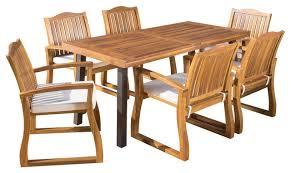 gdf studio spanish bay teak finish acacia wood dining table