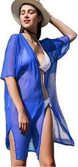 La Carrie <b>Women's</b> Solid Chiffon Cover Up Kimono Cardigan ...