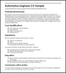 automotive engineer cv sample   curriculum vitae builderautomotive engineer cv sample