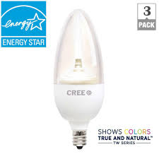 cree tw series 40w equivalent soft white b13 um candelabra decorative dimmable led light bulb