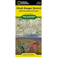 Interstate Mileage Chart Clinch Ranger District Jefferson National Forest Trail Map 793