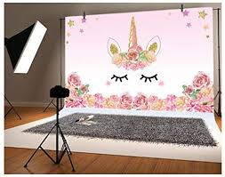 <b>Laeacco</b> 5x3ft Photography Background <b>Unicorn Birthday Party</b> ...