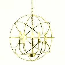 remodel brushed nickel globe chandelier