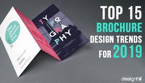 Top 15 Brochure Design Trends For 2019