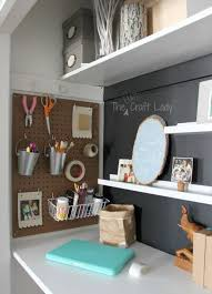 office in a closet. The Crazy Craft Lady Office In A Closet