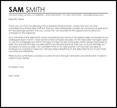 Promotion Acceptance Letter Example Letter Samples Templates