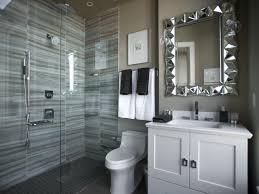 contemporary bathroom decor ideas. Bathroom, Contemporary Bathrooms Design In Artistic Grey Theme With Brown Wall And Floor Tiles Bathroom Decor Ideas D