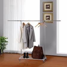 Rolling Coat Rack With Shelf Wardrobe Racks amazing rolling clothing racks Heavy Duty Clothes 80