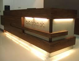 reception desk ideas inspiring good nice way to break up height reception trend