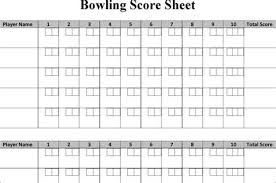 Bowling Score Sheet Template - Costumepartyrun