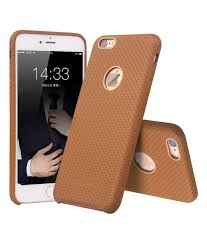 brown color iphone 66s plus perforated leather back case add to wishlist loading