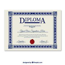 Modelo De Diploma Descargar Vectores Gratis