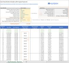 Excel Amortization Schedule With Irregular Payments Free