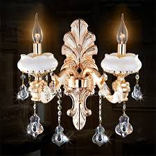 2 light candle type crystal candle wall sconces uk