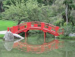 Lawn & Garden:Small Stone Bridge In Japanese Garden Idea Vintage Japanese Garden  Bridge Red