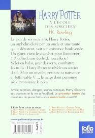 Harry Potter A L'Ecole des Sorciers (French Edition): J. K. Rowling:  9782070643028: Amazon.com: Books