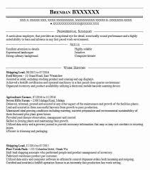 Agriculture Farmer Resume Example