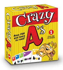 crazy a s the crazy 8 s reading card game ages 4 up 2 8 players 10 minutes to play