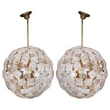 fantastic pair of rock crystal chandeliers for