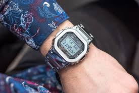 Review những chiếc đồng hồ điện tử Casio G Shock dây kim loại - Review đồng  hồ điện tử Casio