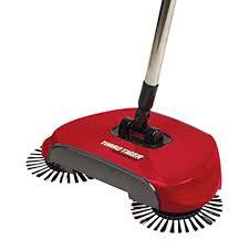 tristar turbo tiger sweeper hard floor rotating brush broom red