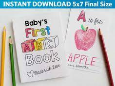 Small Picture ABC Book Baby Shower Activity Alphabet Baby Book Shower Game