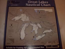 Heritage Puzzles Great Lakes Nautical Chart Jigsaw Puzzle 30