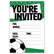 Soccer Party Invite Soccer Party Invitations 20 Count With Envelopes