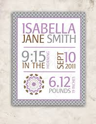 dahlia baby girl nursery wall art purple grey birth stats poster print pbk inspired on diy little girl wall art with 82 best baby girl stuff and ideas images on pinterest baby dresses
