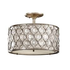 chair decorative flush mount chandelier with shade 18 brushed nickel drum light semi lighting design idea