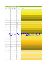 Ping Color Dot System Chart Ping Color Code Chart Pdf Free 1 Pages