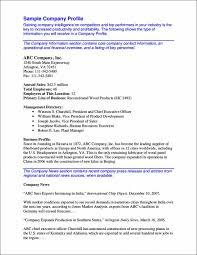 Company Bio Template Fascinating 48 Company Profile Samples Templates In PDF Sample Templates