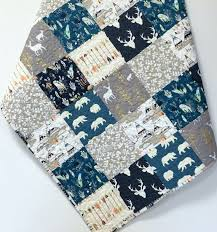28 best Woodland Baby Quilts for Sale images on Pinterest ... & Baby Boy Quilt Woodland Teepee Bear Deer Buck by CarleneWestberg Adamdwight.com