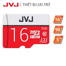 Thẻ nhớ 16Gb JVJ Pro U3 Class 10 - Chuyên dụng CAMERA, Điện thoại, Máy ảnh  chuyển dụng tốc độ cao 90Mb/s chính hãng