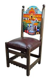 furniture in mexico. Rustic Mexican Pueblito Painted Chair #handpaintedfurniture - Come Sit Awhile And Visit Www.mainlymexican Furniture In Mexico