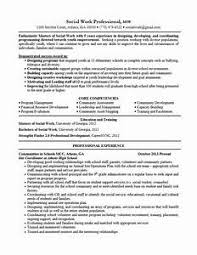 Gallery Of Examples Of Social Work Resumes