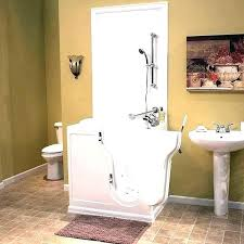 walk in tub shower combo a experience the utmost comfort and safety bath almost half home walk in tub shower