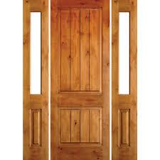 unfinished front doorKrosswood Doors 745 in x 97625 in Rustic Knotty Alder Square