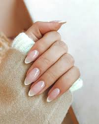 French Tip Stiletto Nail Designs Pinterest Rebelxo7 French Manicure Nails Pointy Nails