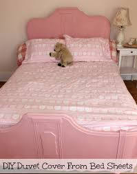 sew a duvet cover from bed sheets