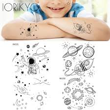 милая детская временная татуировка на руку с мультяшным рисунком для мальчиков