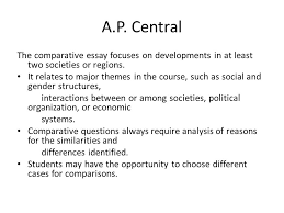comparative essay a p world ppt video online a p central the comparative essay focuses on developments in at least two societies or regions