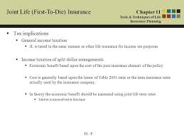 11 3 joint life first to insurance tax implications