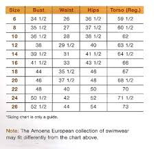 Amoena Swim Form Chart Wph