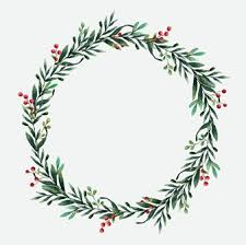 plain christmas wreath coloring page. Wonderful Christmas Round Christmas Wreath Vector Watercolor Style Throughout Plain Wreath Coloring Page S